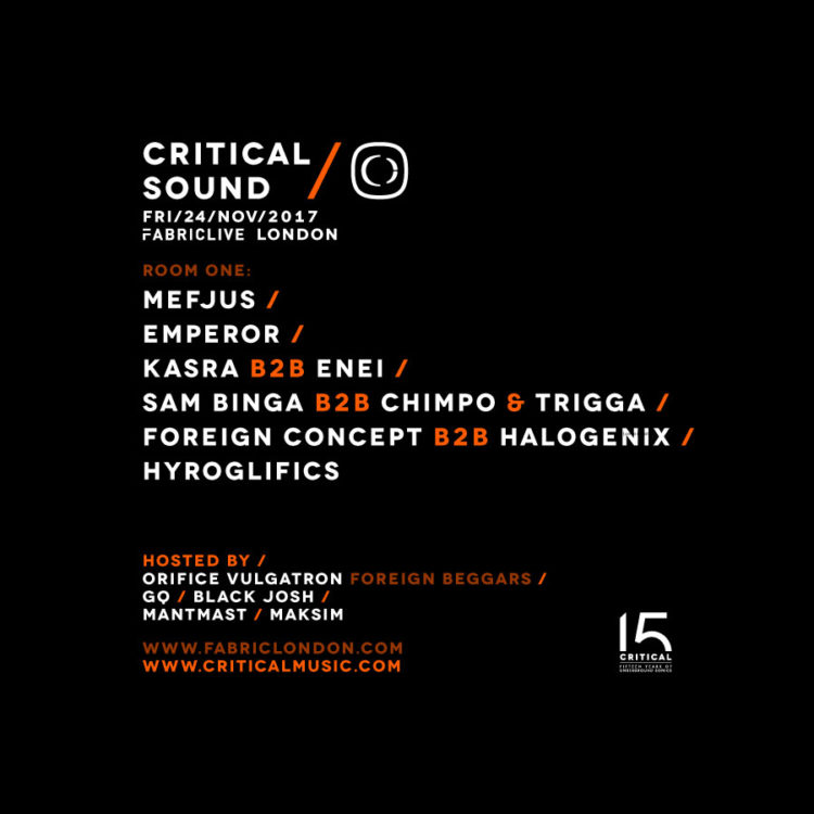 CRITICAL SOUND FABRICLIVE